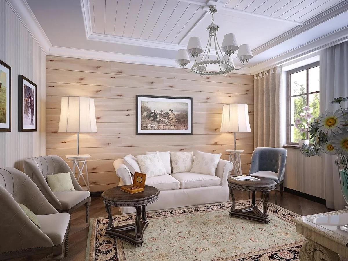 Imitasjon av interiøret i stil med provence