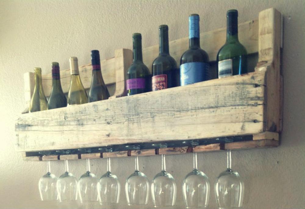 Casier à vin en palettes