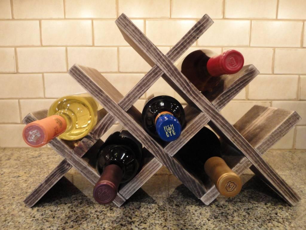 Étagère à vin diagonale