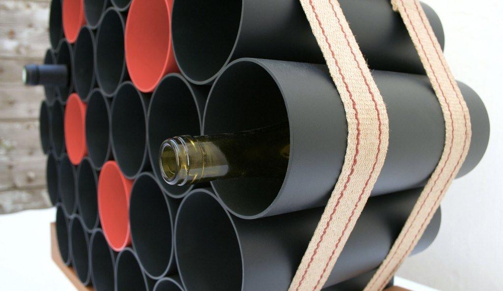 Casier à vin en tuyaux de polyuréthane