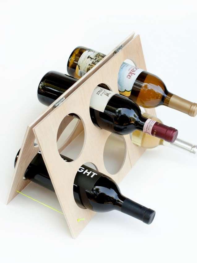 Casier à vin en contreplaqué