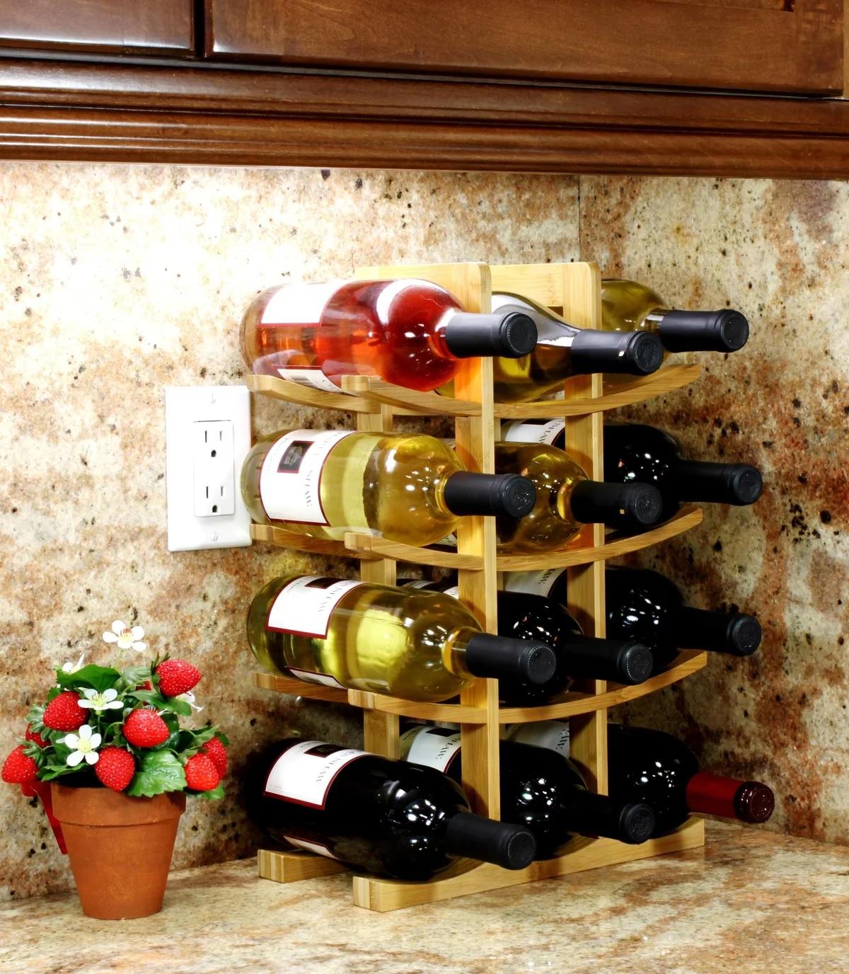 Étagère prête pour le vin