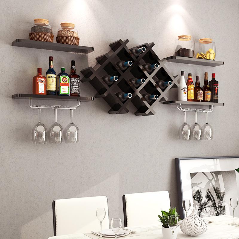 Étagère à vin en panneaux de particules