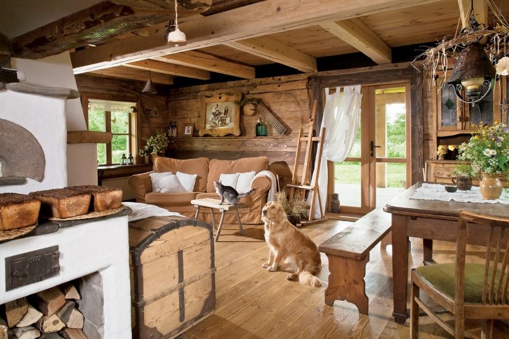 Décoration intérieure d'une maison en bois