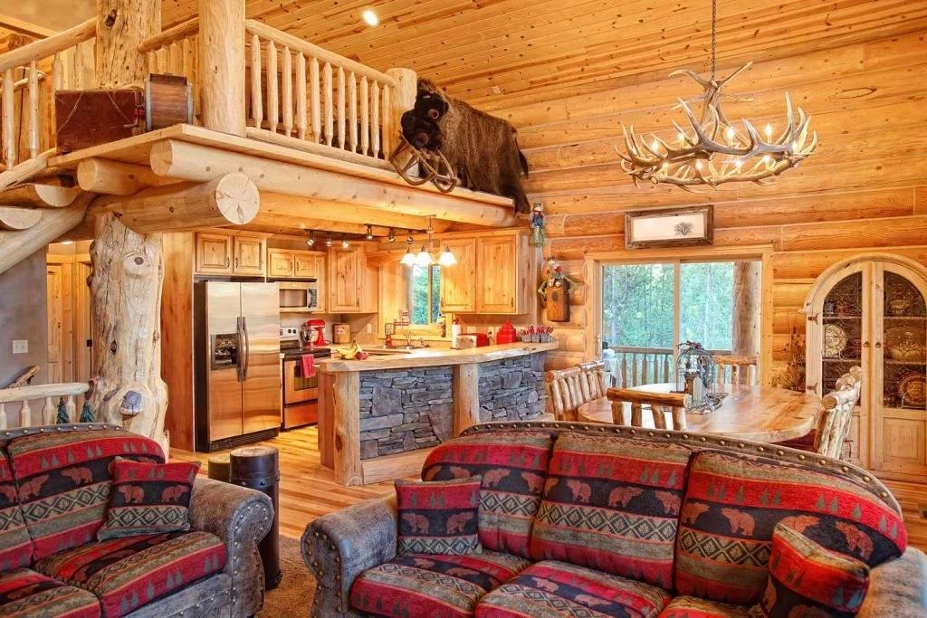 Décoration intérieure dans une maison en bois