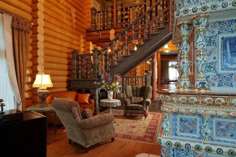 Maison en bois de style russe