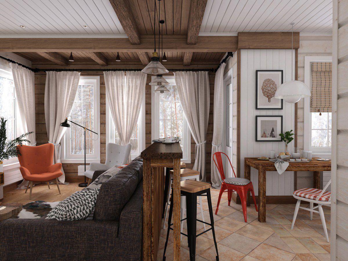 Maison en bois de style scandinave