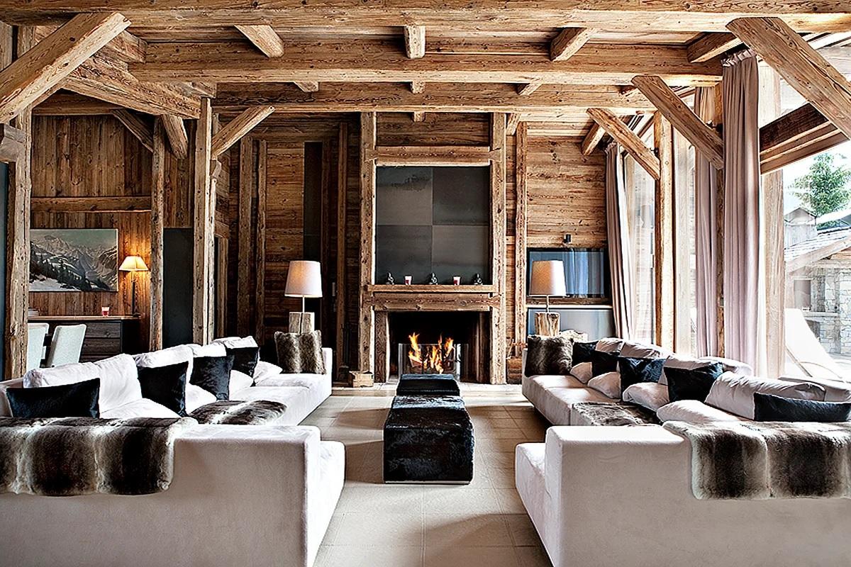 Maison en bois de style chalet