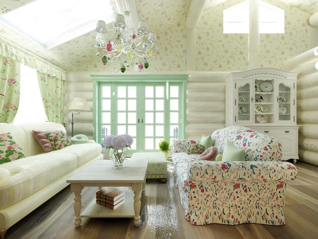 Maison en bois de style provençal