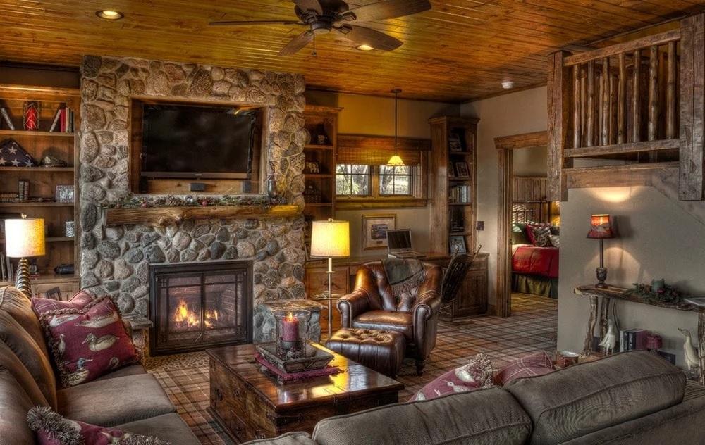 Décor à l'intérieur d'une maison en bois