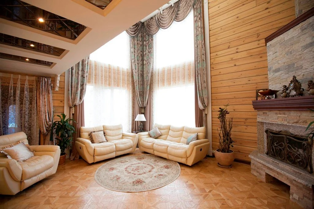 Séjour dans une maison en bois